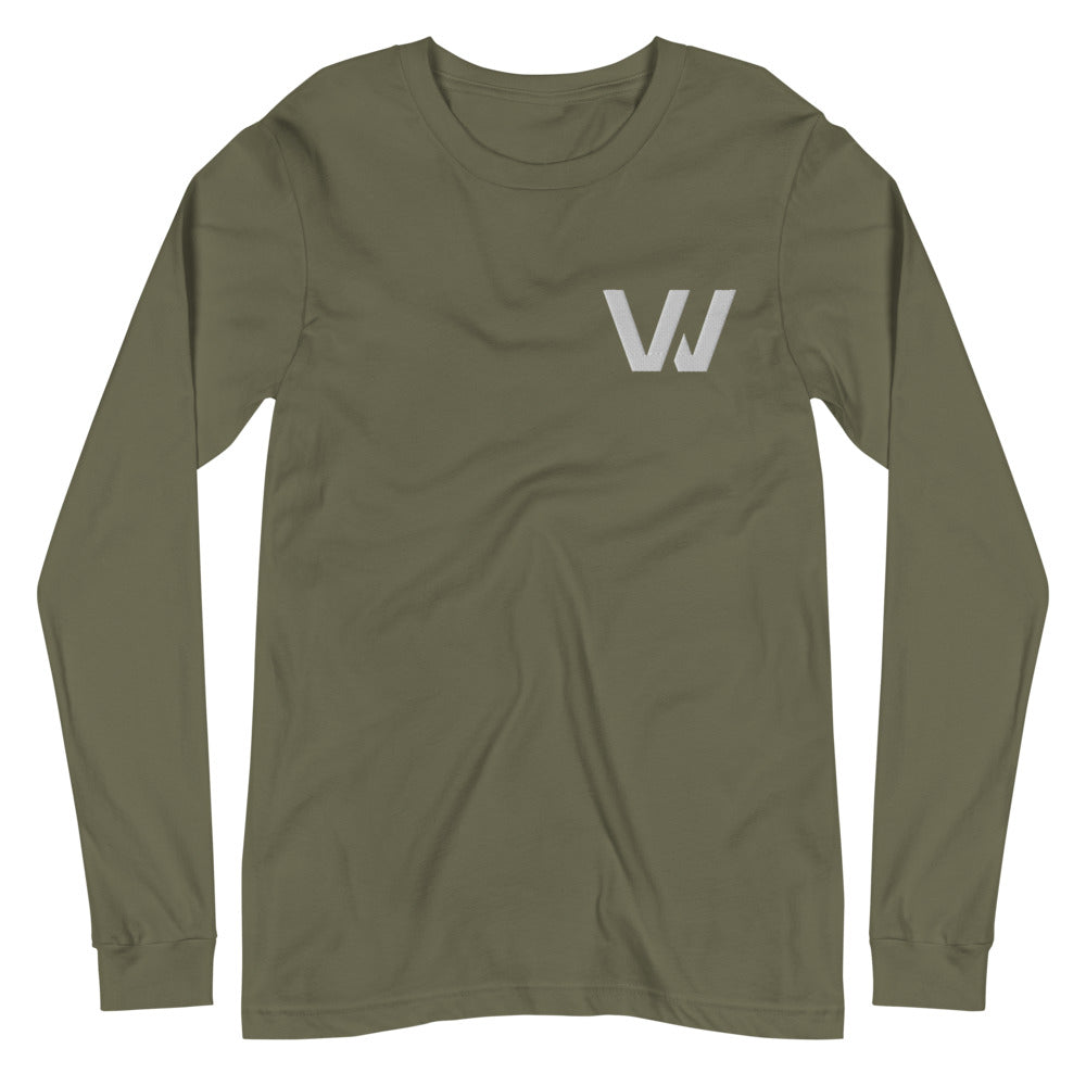 "Classic Embroidered ""W"" Long Sleeve T-Shirt"