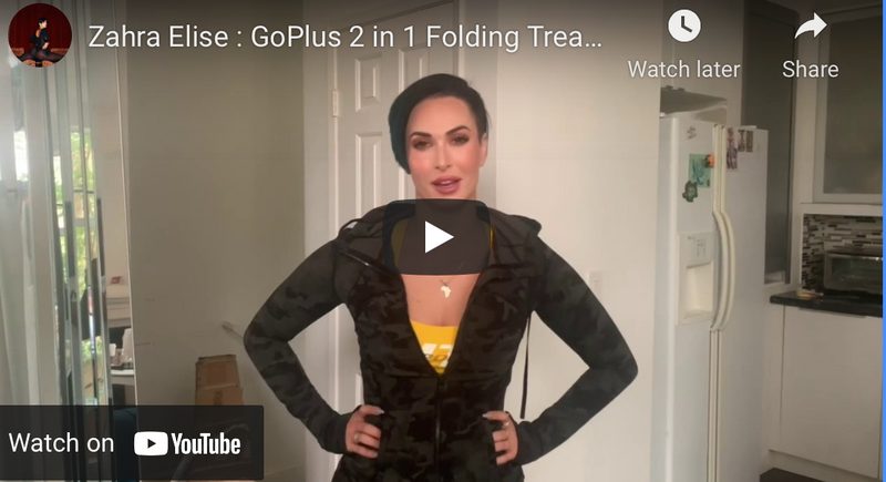 Zahra Elise : GoPlus 2 in 1 Folding Treadmill Review