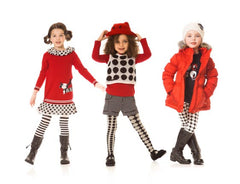 Deux Par Deux Girls Dog Story Dalmatian Spot Knit Dress Red Size 3-6 YRS - Rebelle Kids - 2