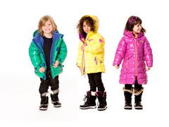 Deux Par Deux Fluffy Puffy Girls Long Coat Purple Cactus with Pink Trim - Rebelle Kids - 2