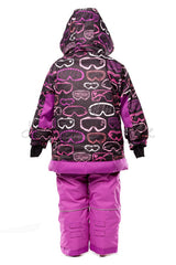 Deux Par Deux Girls Snowsuit & Neck Warmer - 2 piece Aime La Neige Collection - Rebelle Kids - 2