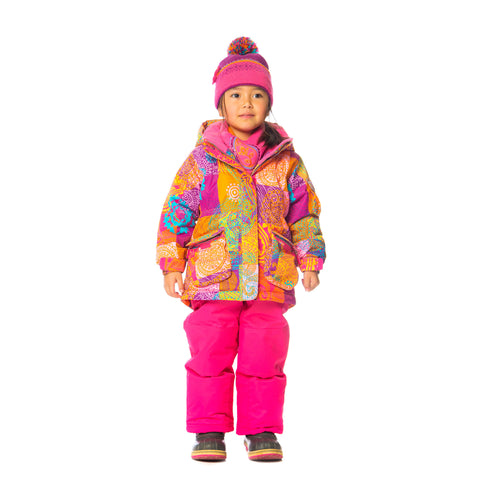 Deux Par Deux Girls Snowsuit & Neck Warmer Three Piece Across the Universe - Rebelle Kids - 1