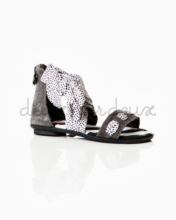 Deux Par Deux Girls Eye on Fashion Frill Sandals - Rebelle Kids - 1