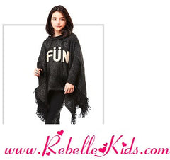 Blu by Blu Girls' Poncho Penny Lane, Sizes 7-14 - Rebelle Kids - 2