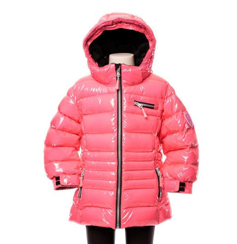 Deux Par Deux Fluffy Puffy Girls Jacket Diva Pink - Rebelle Kids - 1