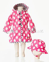Deux Par Deux Girls Raincoat and Hat Pluies d'Avril - Rebelle Kids - 1