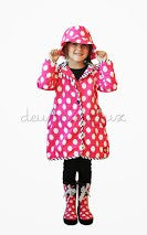 Deux Par Deux Girls Raincoat and Hat Pluies d'Avril - Rebelle Kids - 2