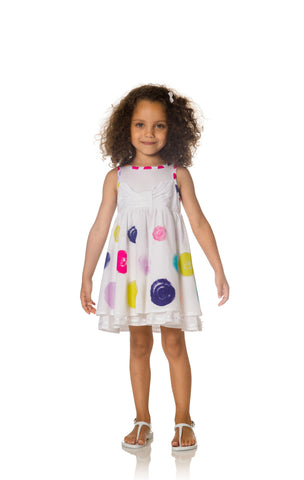 Deux Par Deux Fizzy Pop Dress with Flounces - Rebelle Kids - 1