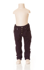 Deux Par Deux Super 8 Boy's Black Canvas Pants - Rebelle Kids - 2
