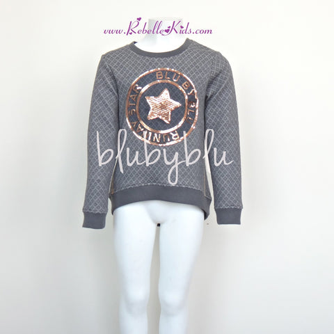 Blu by Blu Runway Star Girl's Sweatshirt, Sizes 6-14 - Rebelle Kids - 1
