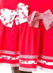 Deux Par Deux Girls La Cerise sur Le Gateau Red Jersey Dress - Rebelle Kids - 3