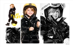 Deux Par Deux Fluffy Puffy Boys Jacket Anthracite Black - Rebelle Kids - 2