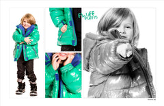 Deux Par Deux Coat Jacket Fluffy Puffy Boys Mint Green - Rebelle Kids - 2