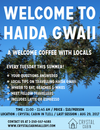 A Welcome Coffee with Haida Gwaii Locals