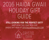 Our Favourite 2016 Holiday Gift Ideas from Haida Gwaii