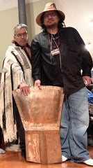 Haida Artist Aay Aay Hans with Haida Chief Sydney Crosby