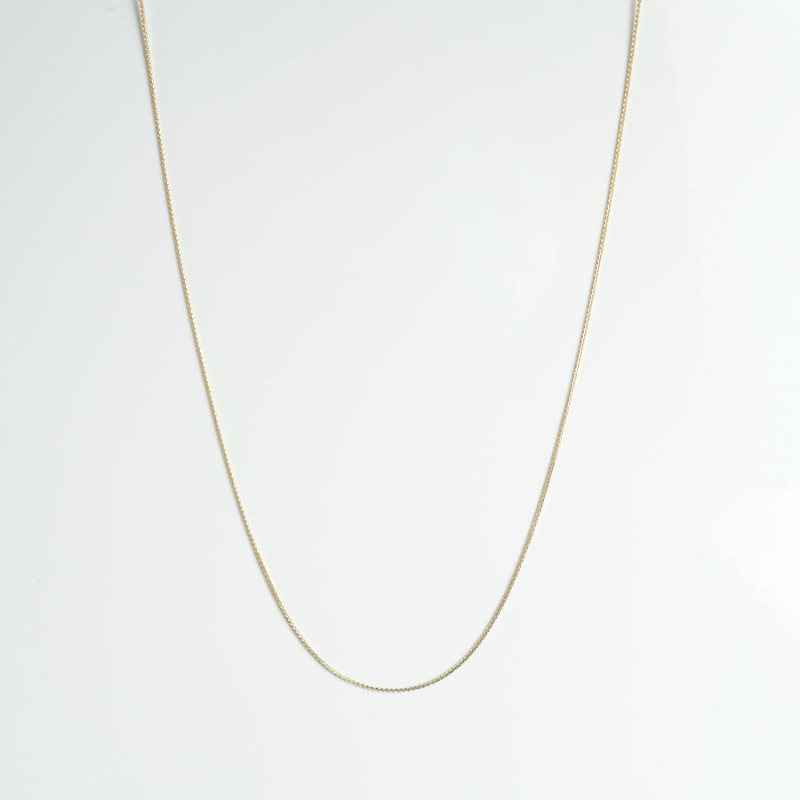 Light 14K Yellow Gold Wheat Chain Necklace comes in lengths: 16, 18, 20, 22, 24 & 26 inches and is sold by Crystal Cabin.