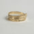 Narrow 14K Gold Hummingbird Wrap Ring
