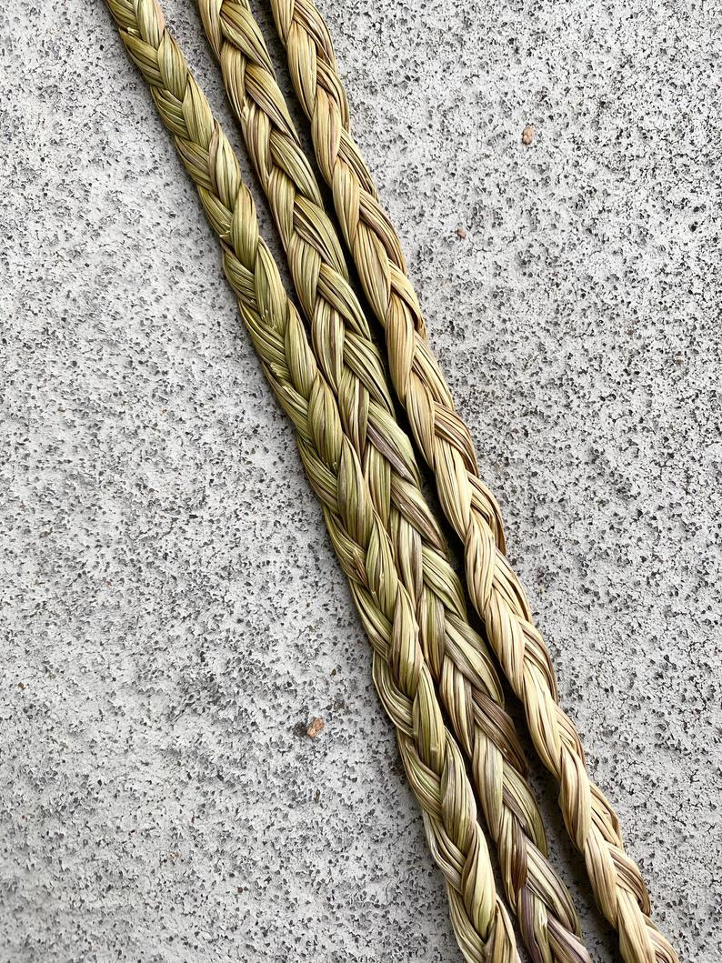 Small Canadian Sweetgrass Braid - Traditional 21 Strands