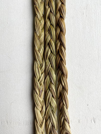 Canadian Sweet Grass Braid Traditional 21-Strand Bundle Smudging Incense Indigenous