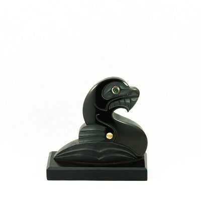 Haida sea lion argillite carving