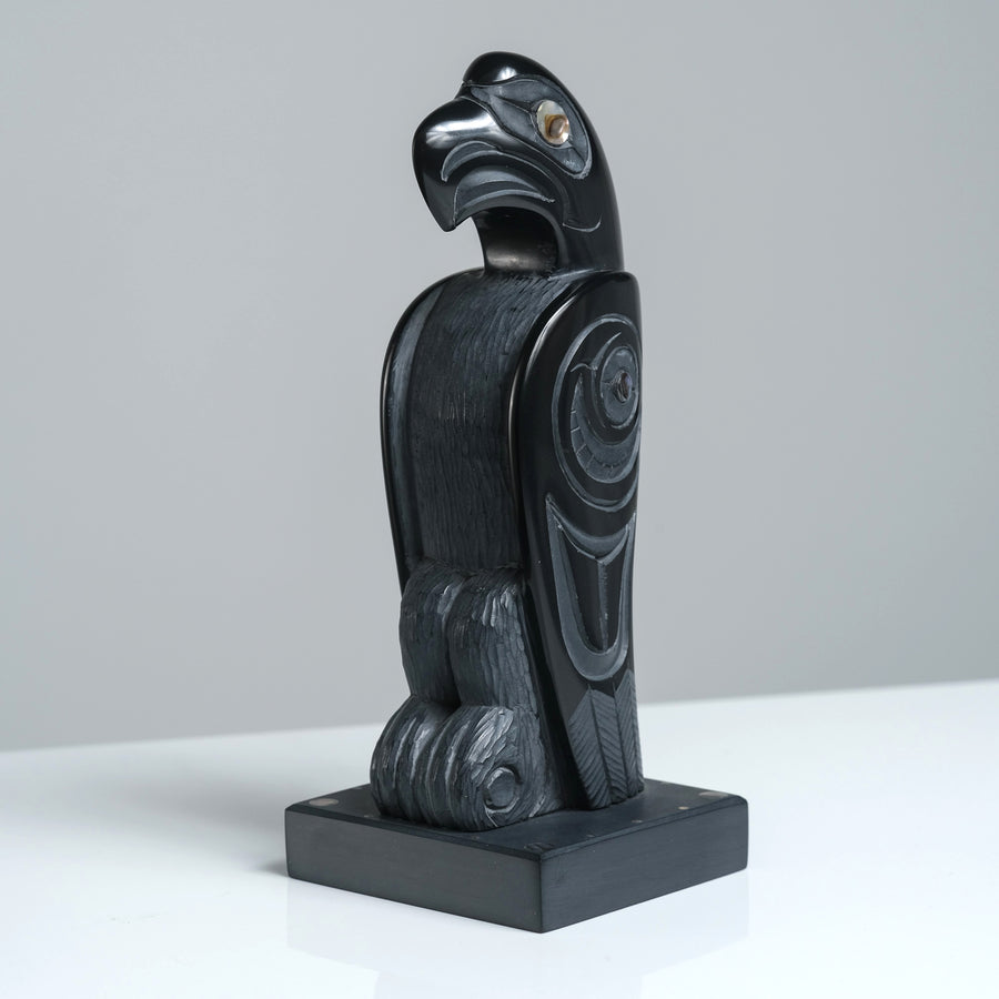 Argillite Eagle Carving