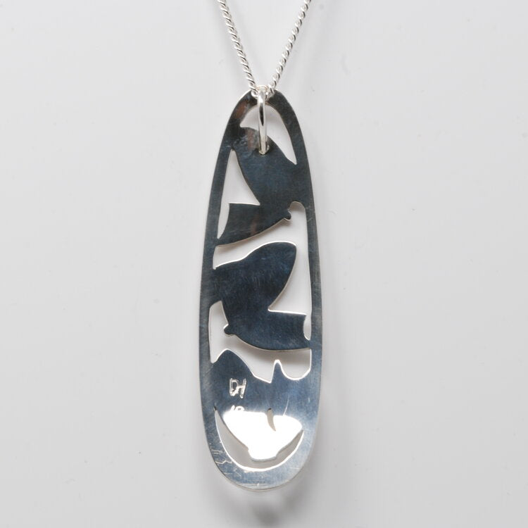 Silver Salmon Necklace