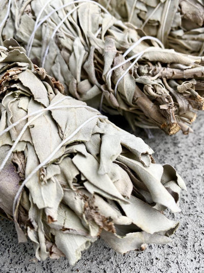 This large sage bundle smudging stick healing ceremony is sustainably harvested & sold by Crystal Cabin.