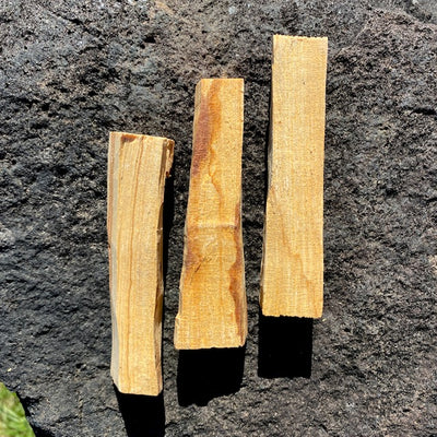Palo santo is sacred wood used for smudging & energy cleansing. When burned its smoke emits a warm & citrus scent which promotes relaxing & mind-clearing benefits. We ship from British Columbia, Canada. Shop Crystal Cabin's selection of sage, sweetgrass & other smudging herbs.