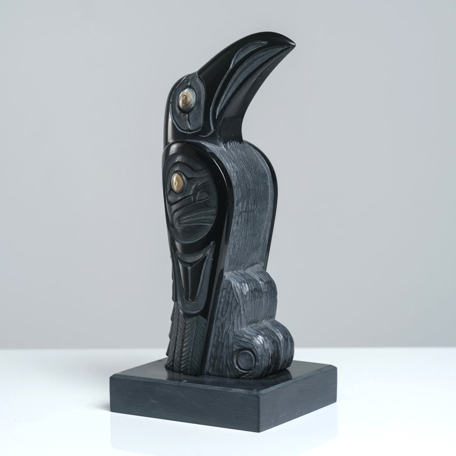 Argillite Raven Steals the Moon Carving