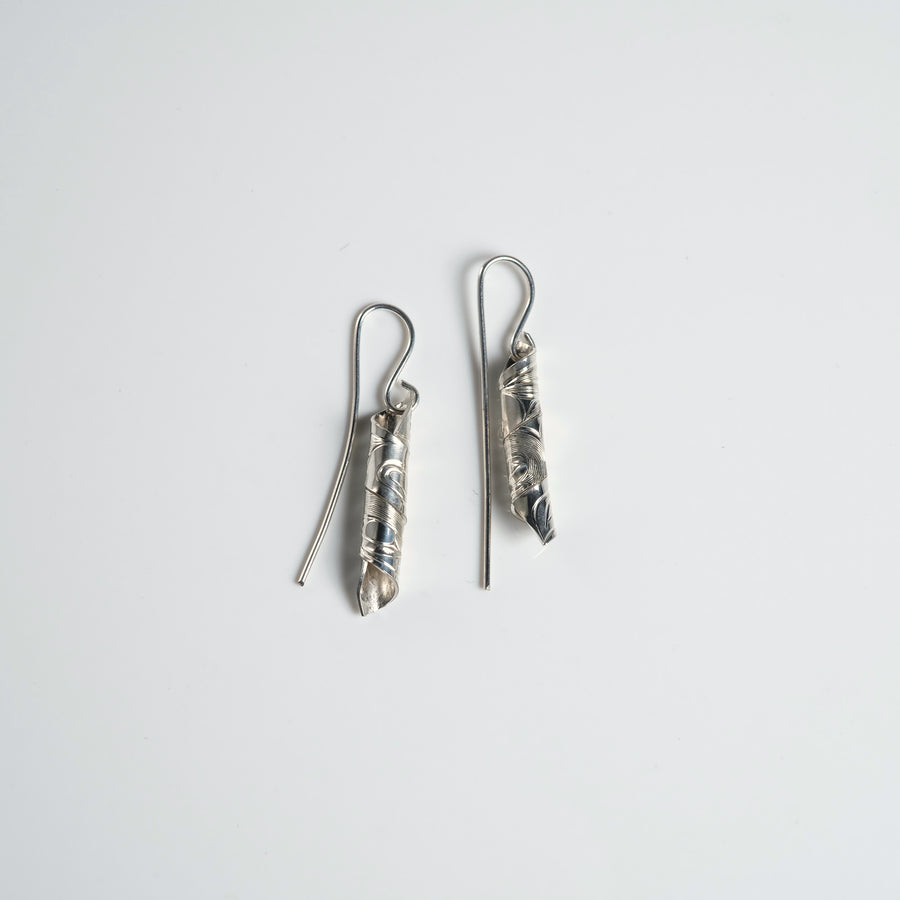 Small Silver Spiral Earrings