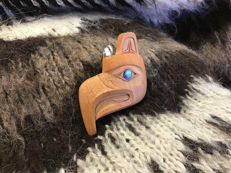 Yew Wood Eagle Necklace sold by Crystal Cabin