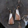Canadian Rhyolite Crystals Stone Earrings