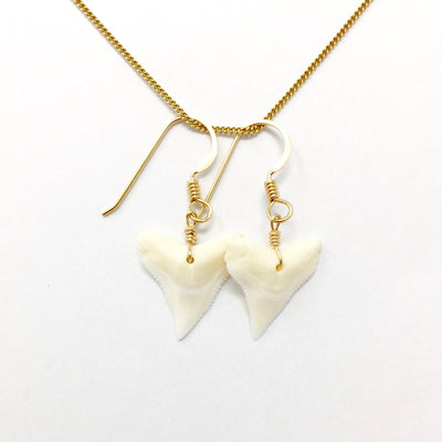 Shark's Teeth Gold Wire Wrap Earrings