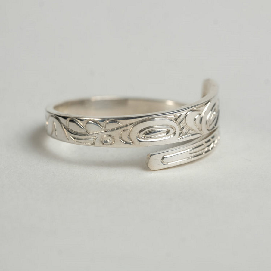 Silver Haida Eagle Wrap Ring