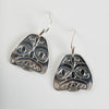 Silver Haida Dogfish Woman Earrings