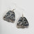 Silver Dogfish Woman Earrings