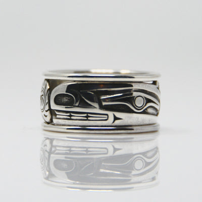Silver Haida Sea Wolf Wasgo Bentley Ring