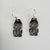 Silver Watchmen Earrings