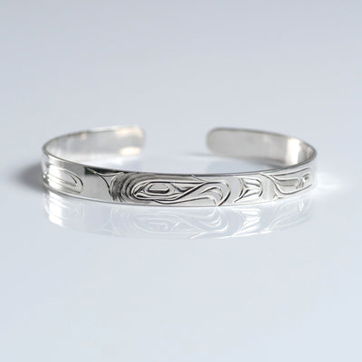 Silver Haida Eagle Bracelet Indigenous Canadian bracelet by Gregory Williams from Crystal Cabin