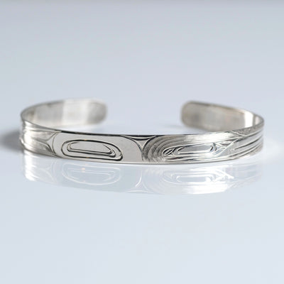 Silver Haida Hummingbird Bracelet Indigenous Canadian by Gregory Williams from Crystal Cabin