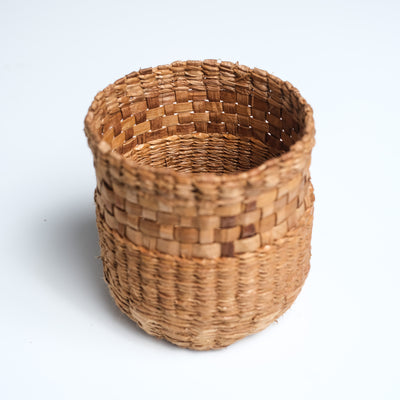 Red Cedar Bark Weaving Northwest Coast Basket by Haida Indigenous Artist Carol Crosby sold by Crystal Cabin.