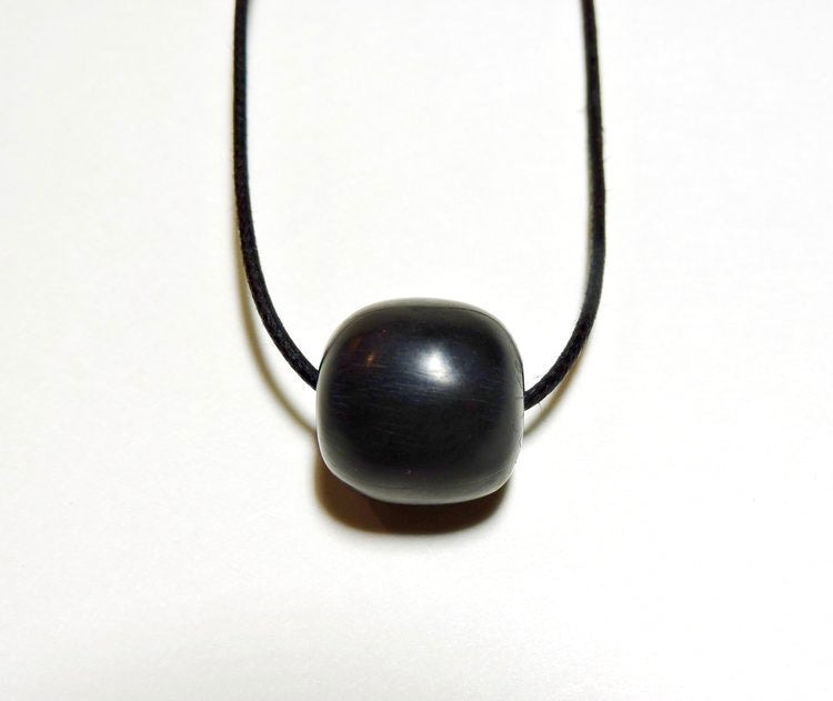 Haida argillite bead necklace