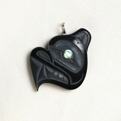 Haida Argillite Bear Necklace