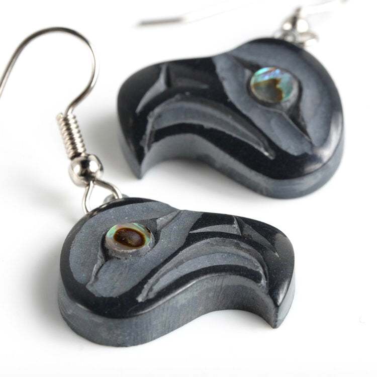 Haida Argillite Eagle Earrings