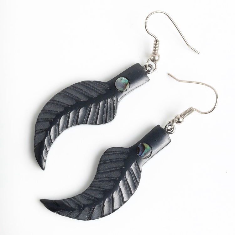 Argillite Feather Earrings