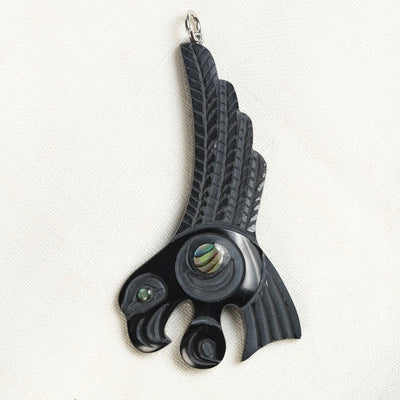 Haida Argillite Eagle Necklace