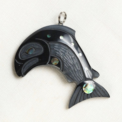 Haida Argillite Salmon Necklace