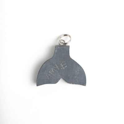 Haida Argillite Whale Tail Necklace