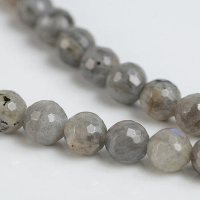Faceted Labradorite Bead Necklace Chakra Energy Metaphysical Crystal Healing